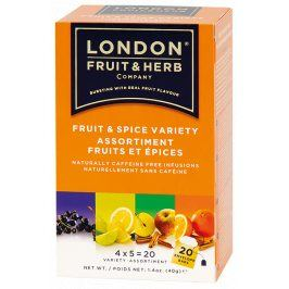 Čaj Fruit spice variety pack - ovoce a koření variace 20 sáčků London fruit and herbs