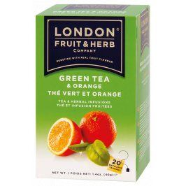 Čaj Green Tea with Orange - zelený čaj s pomerančem 20 sáčků London fruit and herbs