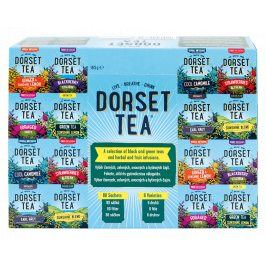 Dorset Tea display - Mix černých, zelených, ovocných a bylinných čajů 80 sáčků