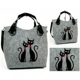Kabelka Excent - 2 černé kočky