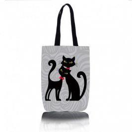 Kočičí kabelka - šopovka (dvě černé kočky)