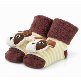 Attractive Chlapecké ponožky s pejskem - hnědé