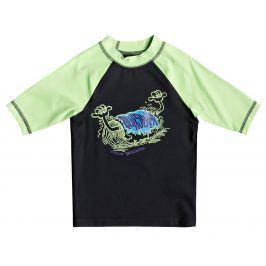 Quiksilver Chlapecká lycra Bubble Dreams SS - zeleno-černá