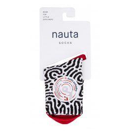 nauta socks Dětské ponožky Brain coral s audio pohádkou - černo-bílé