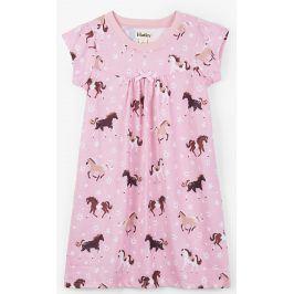 Hatley Dívčí noční košile s koňmi - růžová