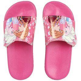Disney Brand Dívčí pantofle Frozen - růžové