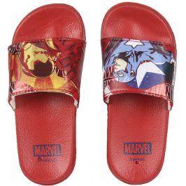 Disney Brand Chlapecké pantofle Avengers - červené
