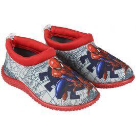 Disney Brand Chlapecké boty do vody Spiderman - šedo-červené