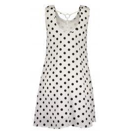 Blue Seven Dívčí šaty s puntíky - bílé
