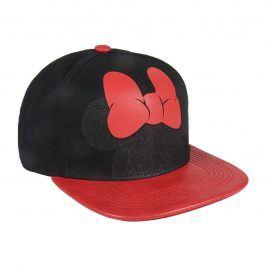 Disney Brand Dívčí kšiltovka Minnie - černo-červená