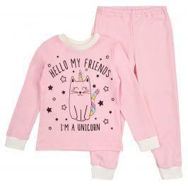 Garnamama Dívčí svítící pyžamo- růžové