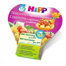 HiPP BIO Těstoviny s rajčaty a cuketou 250g