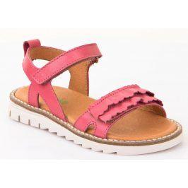 Froddo Dívčí páskové sandály - růžové