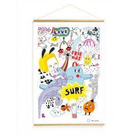 Djeco Plakát Surfařská party, 40x60 cm