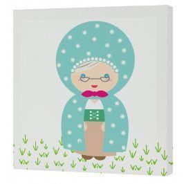 Mr. FOX Nástěnný obraz Grandma - babička, 27x27 cm