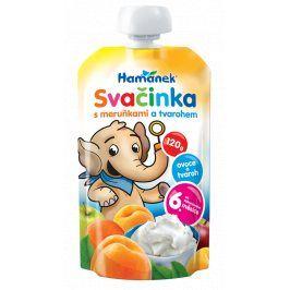 Hamánek Ovocná kojenecká výživa svačinka s meruňkami a tvarohem 2x120g