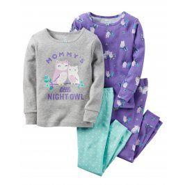 Carter's Dívčí set 2 ks pyžam se sovama - barevný