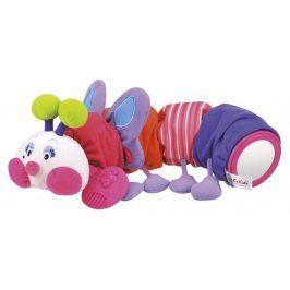 K's Kids Stonožka růžová s kousátkem na prořezávání prvních zoubků, 48 cm dlouhá