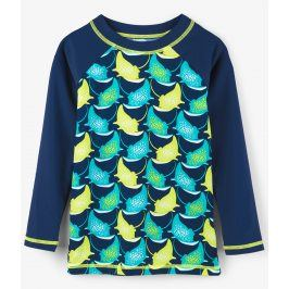 Hatley Chlapecké plavecké tričko s rejnoky UV 50+ - modré