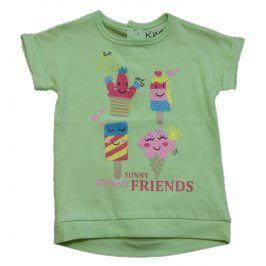 Carodel Dívčí tričko se zmrzlinami - zelené
