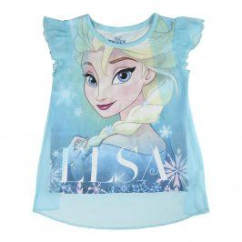 Disney Brand Dívčí tílko Frozen - modré