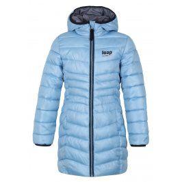 LOAP Dívčí zimní kabát Ikima - světle modrý