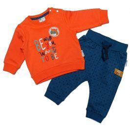 Gelati Chlapecký set tepláčky/mikina s liškou - oranžovo-modré