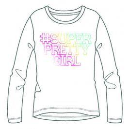 Mix 'n Match Dívčí tričko s nápisem - bílé