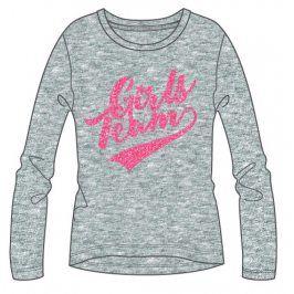 Mix 'n Match Dívčí tričko s nápisem - šedé