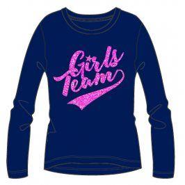Mix 'n Match Dívčí tričko s nápisem - modré