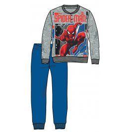 Disney by Arnetta Chlapecké pyžamo Spiderman - šedo-modré