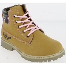 V+J Dívčí zimní boty - okrové