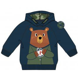 Mix 'n Match Chlapecká mikina s medvědem - modrá
