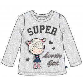 Mix 'n Match Dívčí tričko s holčičkou - šedé