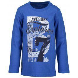 Blue Seven Chlapecké tričko s potiskem - modré