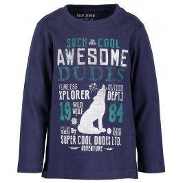 Blue Seven Chlapecké tričko s nápisy - modré