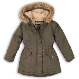 Minoti Dívčí kabát parka- zelené