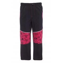 GOOD2GO Dívčí softshellové kalhoty - černo-růžové