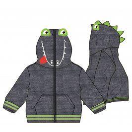 Mix 'n Match Chlapecká mikina s dinosaurem - tmavě šedá