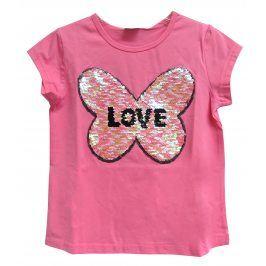 Topo Dívčí tričko se srdcem - růžové