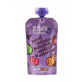 Ella's Kitchen Sladké brambory,dýně, jablko a borůvky