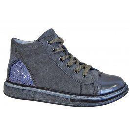 Protetika Dívčí kotníkové boty Edet - šedé