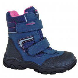 Protetika Dívčí zimní boty s membránou Nordika - modré