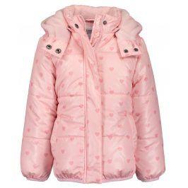 Blue Seven Dívčí bunda se srdíčky - růžová