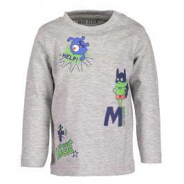 Blue Seven Chlapecké tričko s příšerkami - šedé