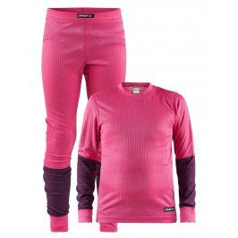 Craft Dívčí set Baselayer - růžová/fialová