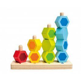 Hape Toys Navlékací barevné šestiboké tvary
