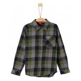 s.Oliver Chlapecká košile - šedo-zelená