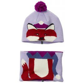 Columbia Dívčí set čepice a nákrčníku Snow More Soft Violet Fox - fialový