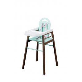 Combelle Jídelní židlička Lili, hnědo-zelená